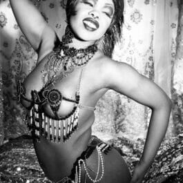 Vintage Burlesque Dancer in London
