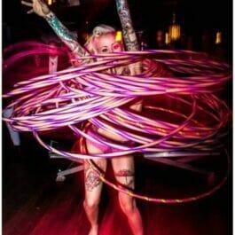 Hula Hoop Circus Skills Act in Brighton
