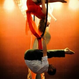 Aerial Duo Performance in Brighton