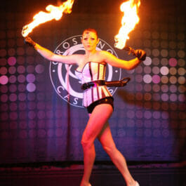 Fire Performer Performing at Casino Brighton