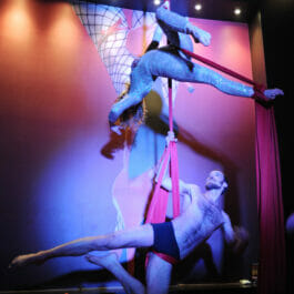 Aerial Silks Performers at Electric Cabaret Company Show Brighton