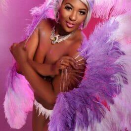 Our Bulesque Fan Dancer