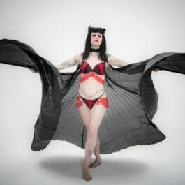 Bat Wings Vampire Performer for Halloween