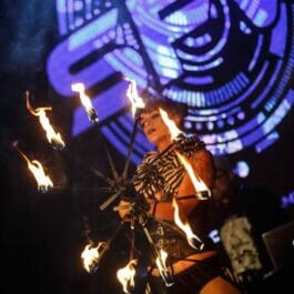 Fire Fan Performer For Events