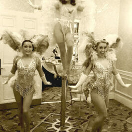 Burlesque Martini Glass Act backstage
