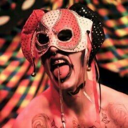 Boylesque Dancer in mask