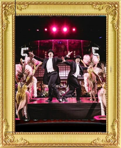 Corporate party entertainment in London and Brighton at this big corporate party event with dancers in top hat and tails and sequin dresses tap dancing