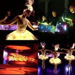 light up LED drummers with beautiful light up LED ballerinas