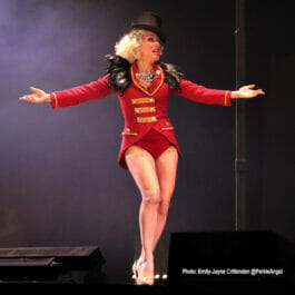 circus ringmistress performer for hire on stage in London